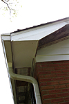Rake board and soffit replacement